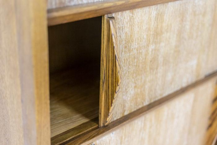 Bibliothèque céruse - détail étagère