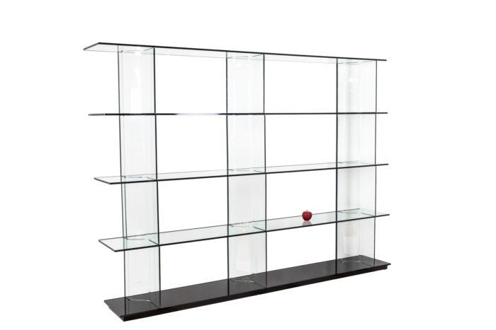 Bibliothèque en verre - échelle