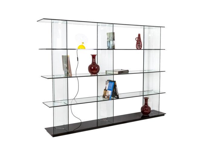 Bibliothèque en verre - mise en scène