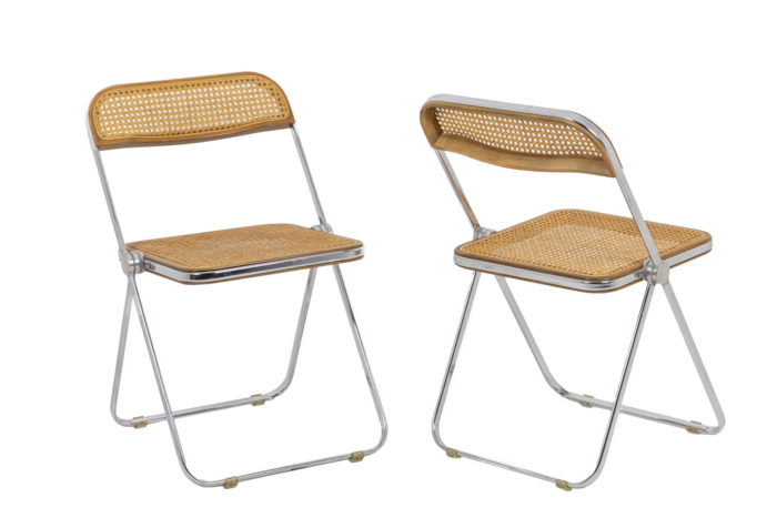 Chaises cannées pliantes - paire