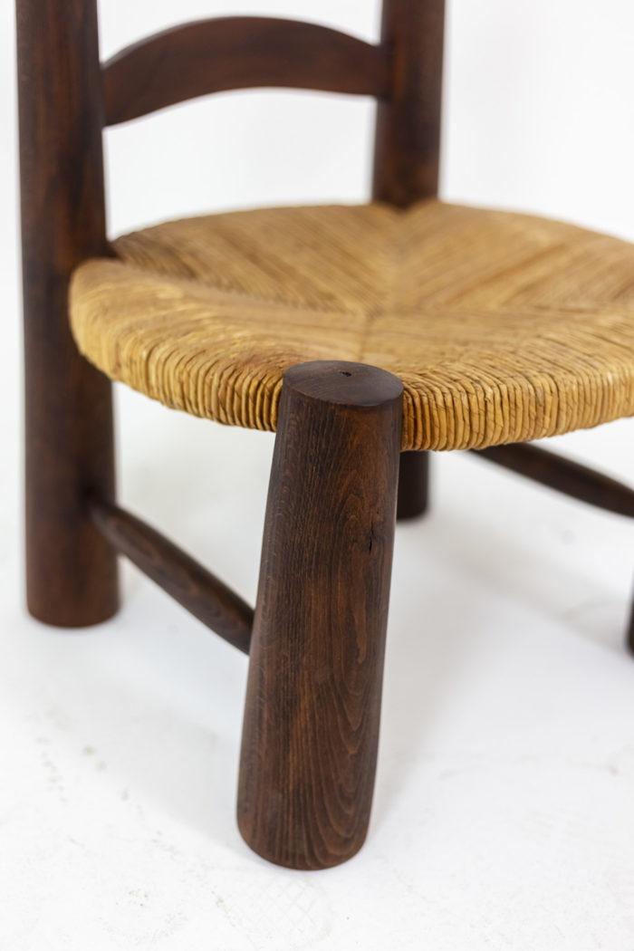Chaises paille - profil