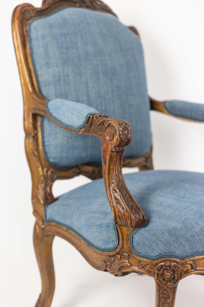 Paire de fauteuils - accotoir