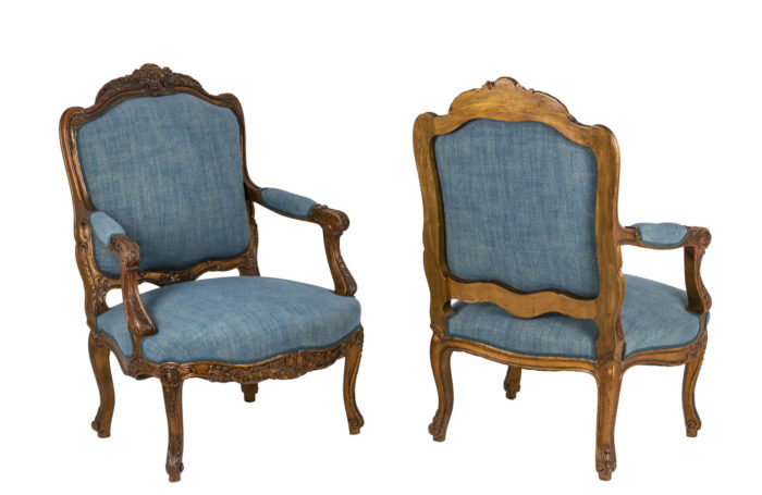 Pair of armchairs - both