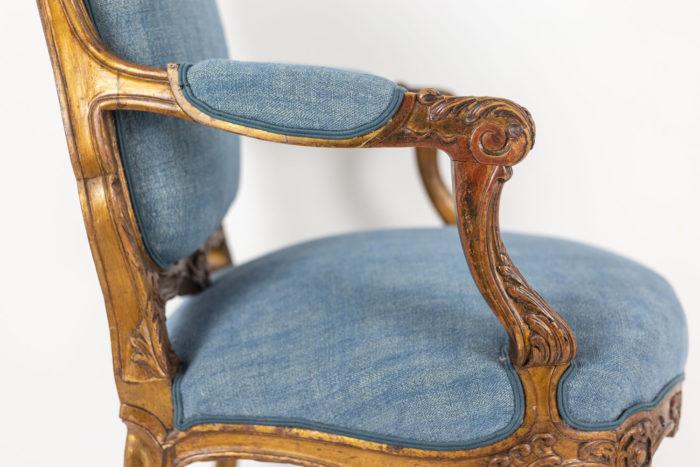 Paire de fauteuils - profil manchette