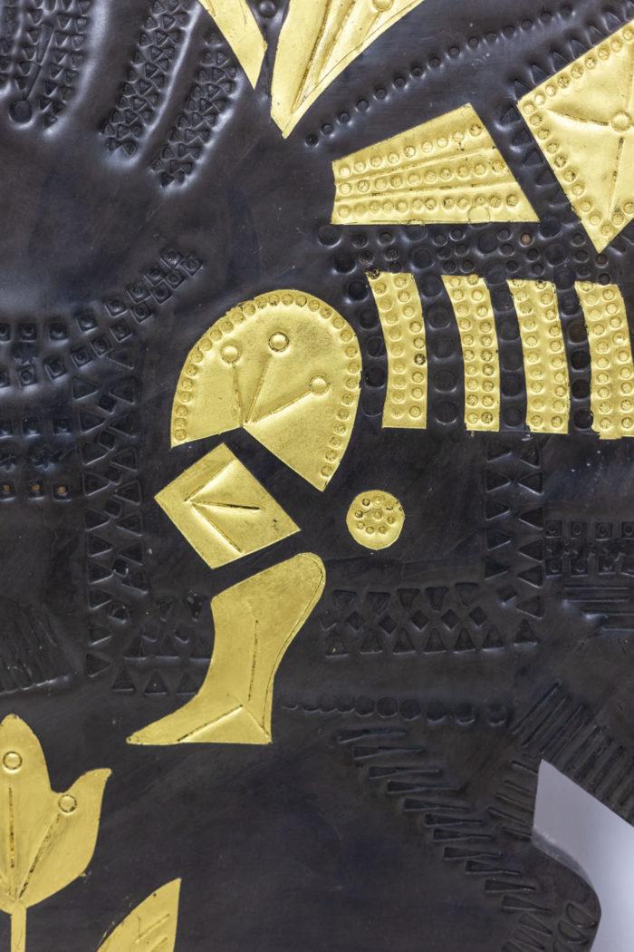 Panneau décoratif Capron - détail motif doré