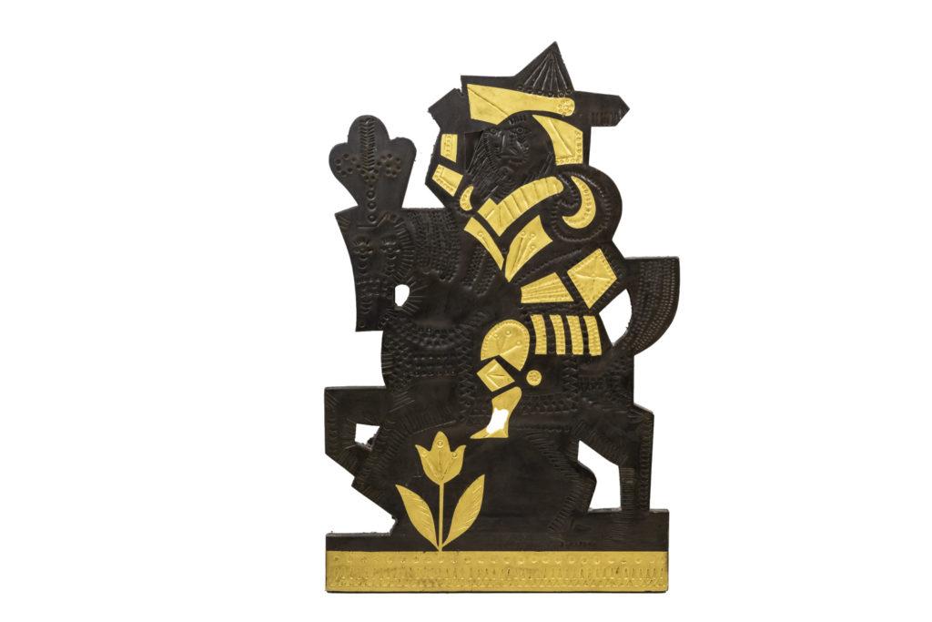 Roger Capron, Panneau décoratif en plomb, années 1960