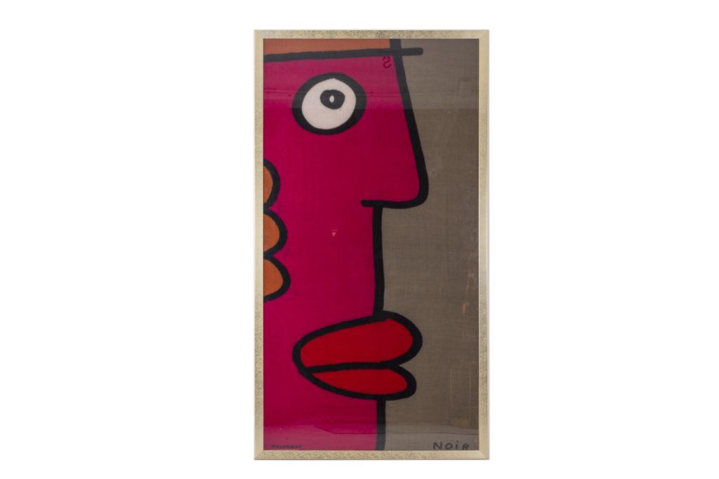 Thierry Noir, impression sur tissu, années 1990