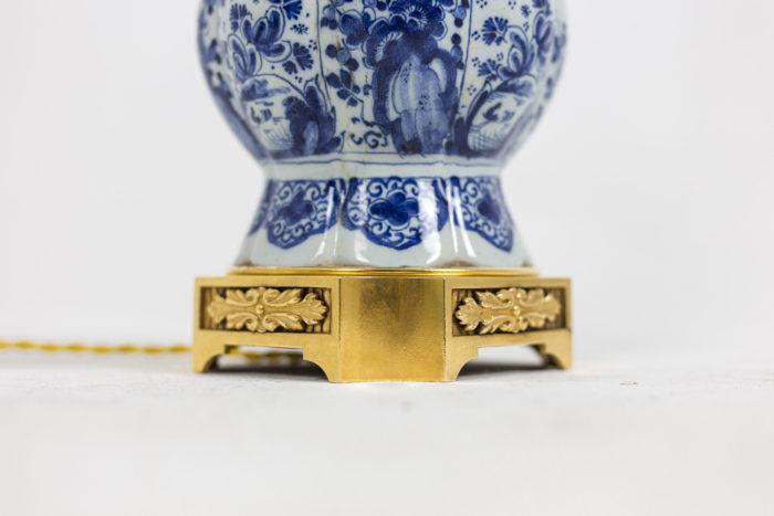 Lampe Delft - détail base