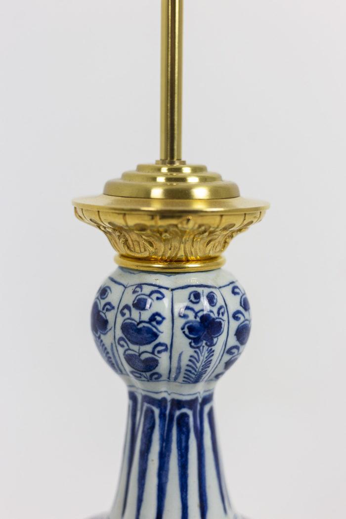 Lampe Delft - détail monture et porcelaine