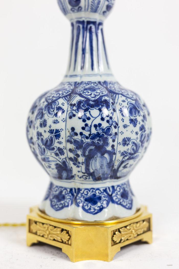 Lampe Delft - détails décor et base