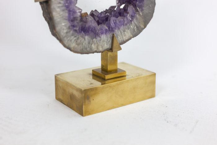 Mirror amethyst - detail of base