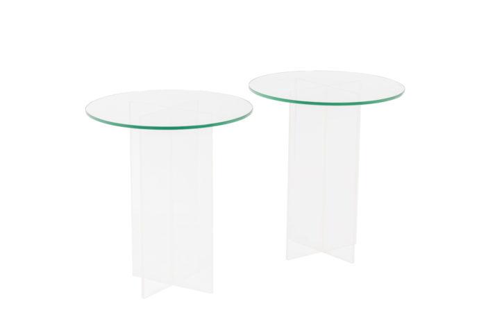 Pair of pedestal tables  - the pair