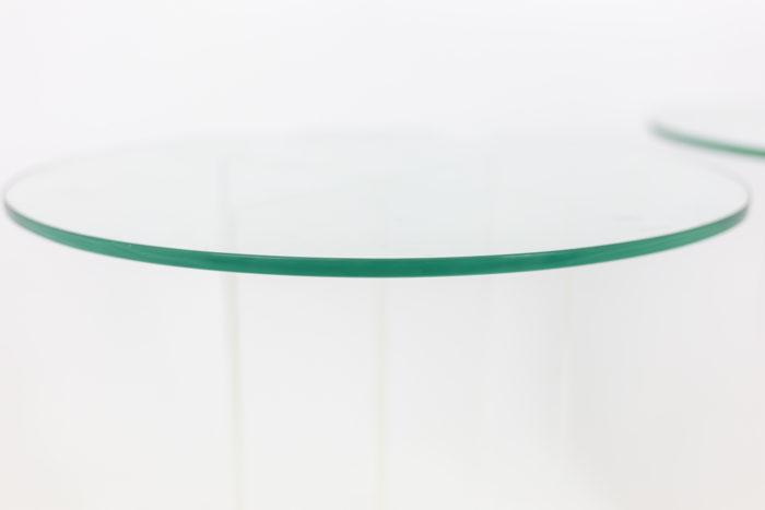 Pair of pedestal tables - top