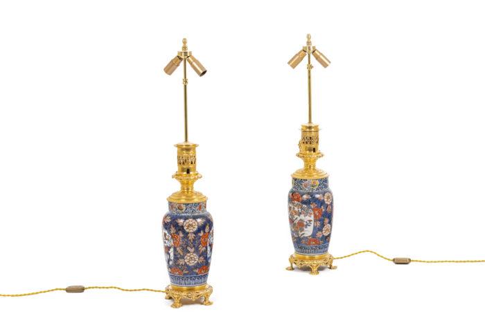 Paire de lampes Imari - la paire sans abat-jour