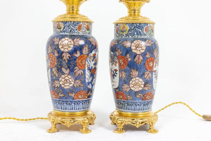 Paire de lampes Imari - profil