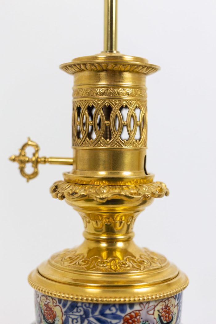 Paire de lampes Imari - système lampe à pétrole