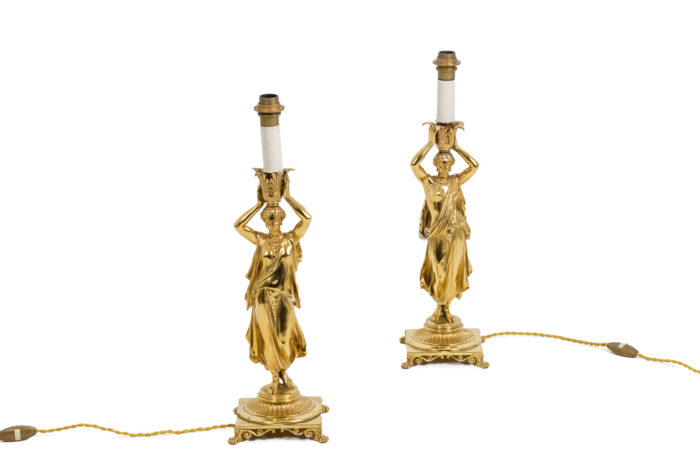Pair of lamps - without lampshade