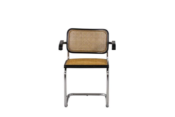 Quatre chaises Cesca - face