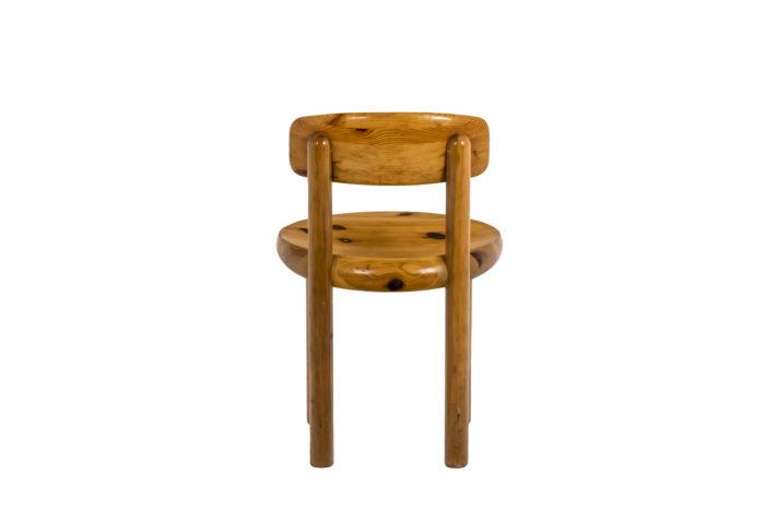 Série de quatre chaises - dos