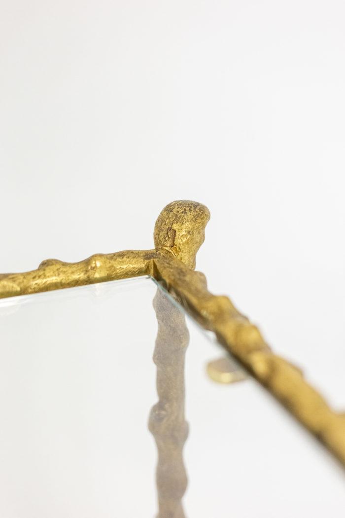 Table basse en bronze doré - autre détail du plateau