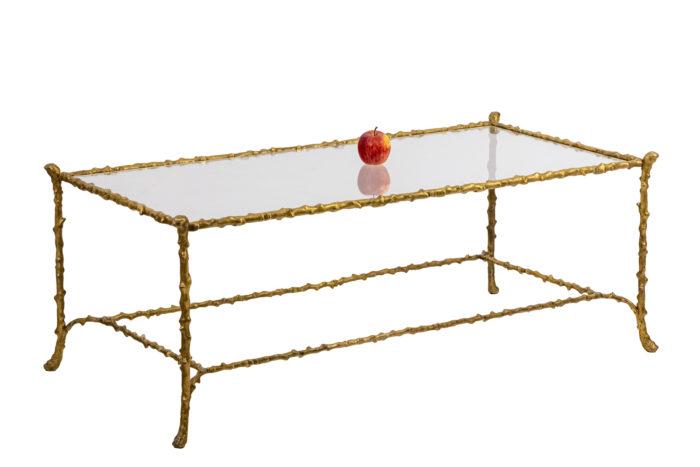 Table basse en bronze doré - échelle
