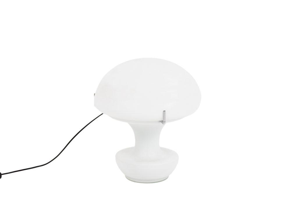 Lampe «Mushroom» en verre opalin, années 1970