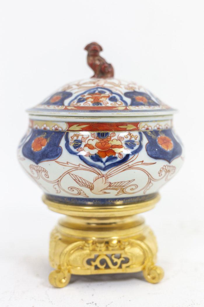 Brûle parfum Imari - porcelaine et socle