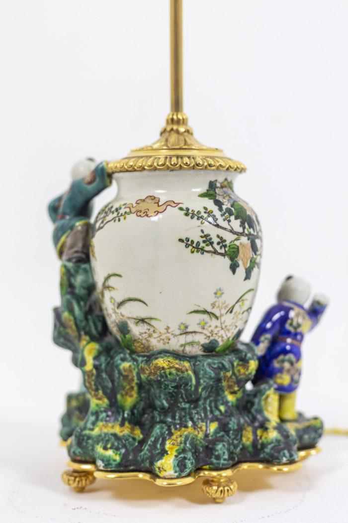 Lampe Kakiémon - détail porcelaine