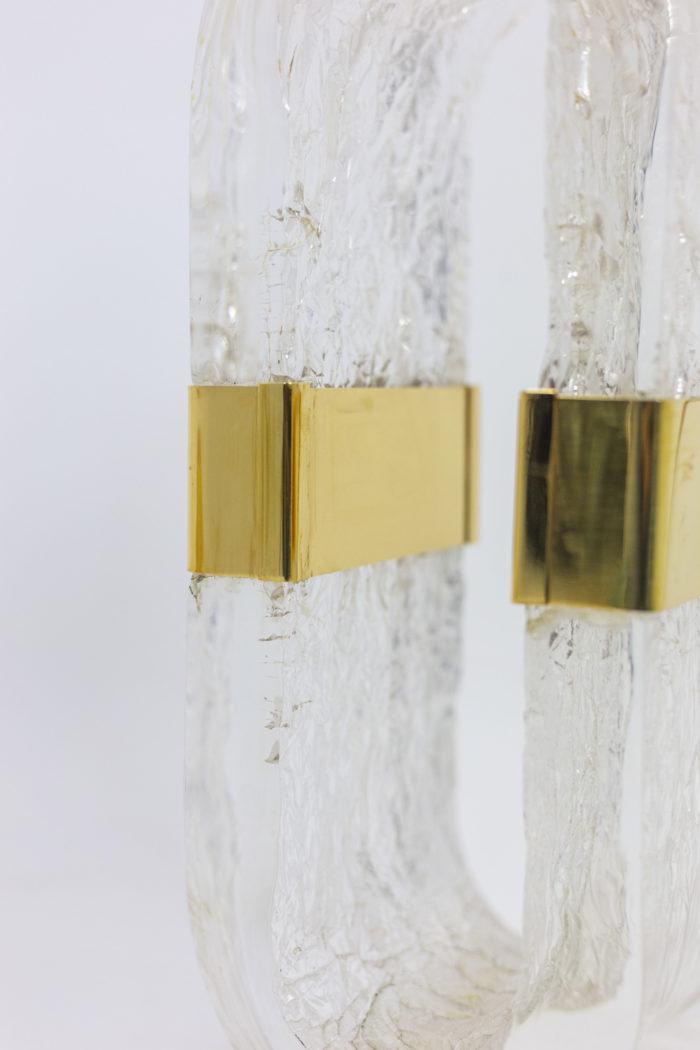 Oval lamp - detail brass