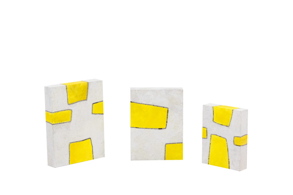 Myriam Caumes, Série de tableaux «Sunny», travail contemporain
