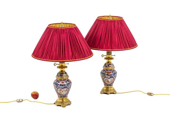 Paire de lampes Imari - échelle