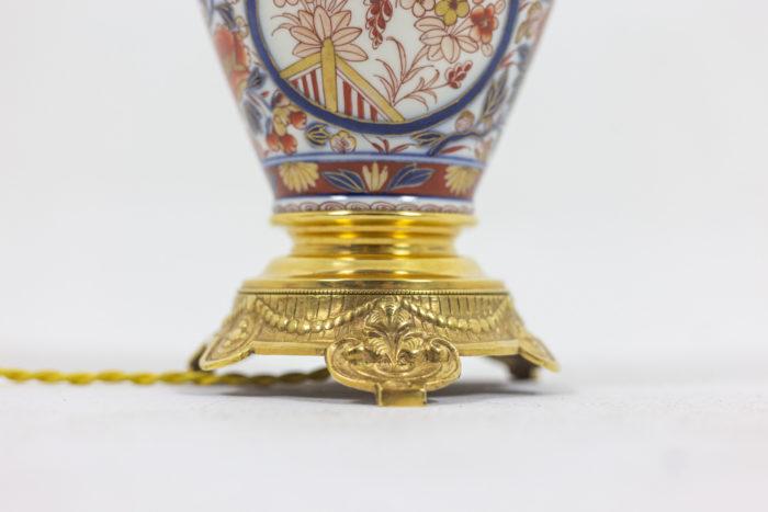 Paire de lampes Imari - focus bronze