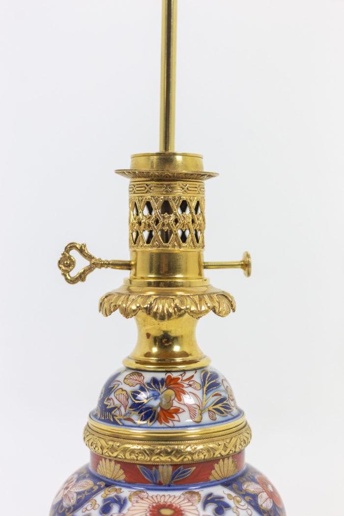 Paire de lampes Imari monture en bronze