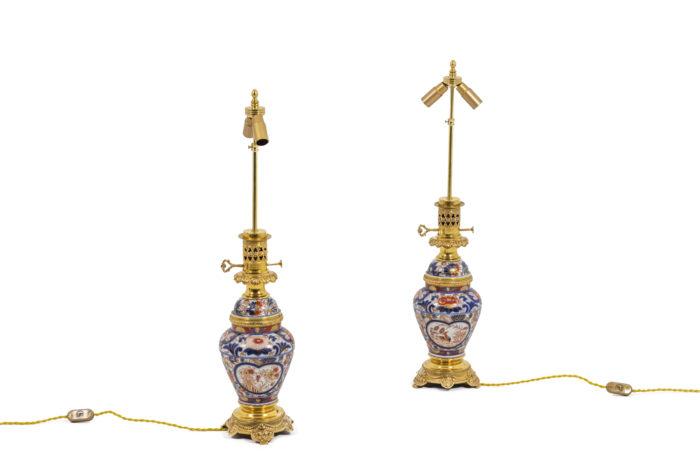 Paire de lampes Imari - sans abat-jour