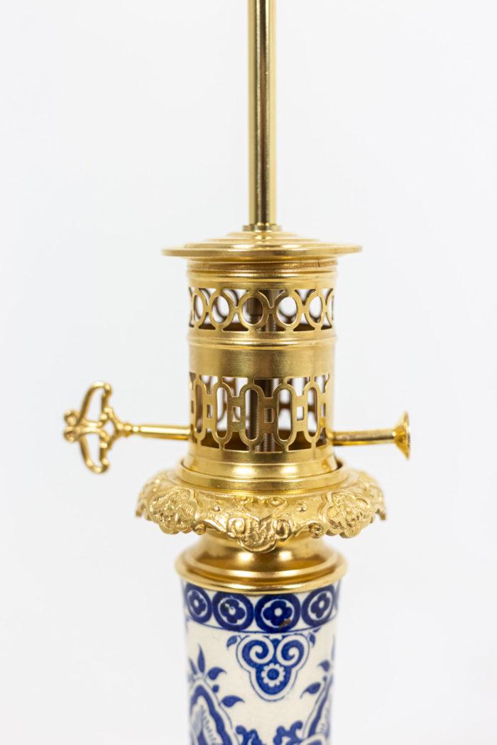 Paire de lampes - monture en bronze
