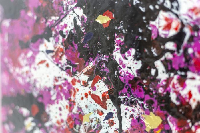 Toile - rose et noir