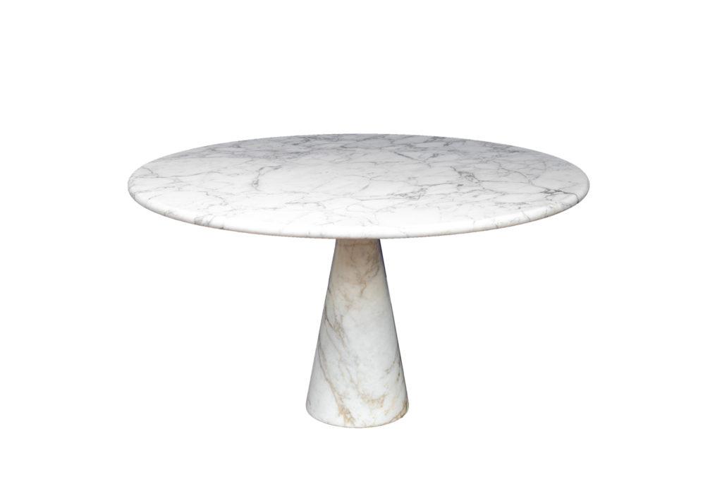 "Angelo Mangiarotti pour Skipper, Table ""M1"" in white marble Calacatta, 1970s"