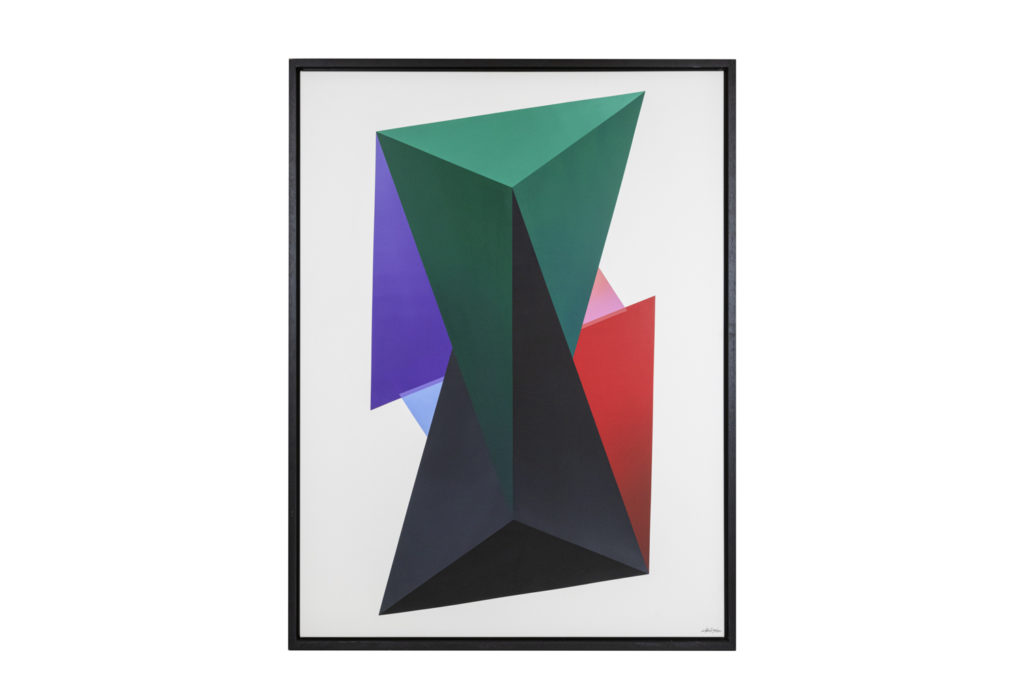 Arthur Dorval, Peinture géométrique, travail contemporain