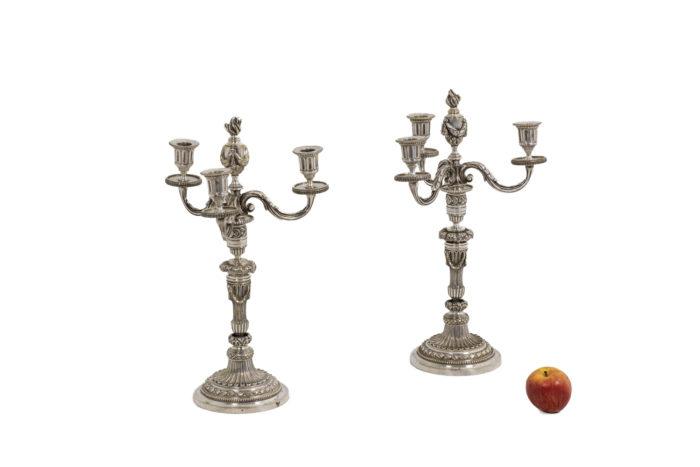 Paire de chandeliers - échelle