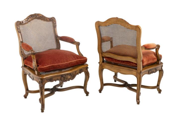 Paire de fauteuils Régence - la paire