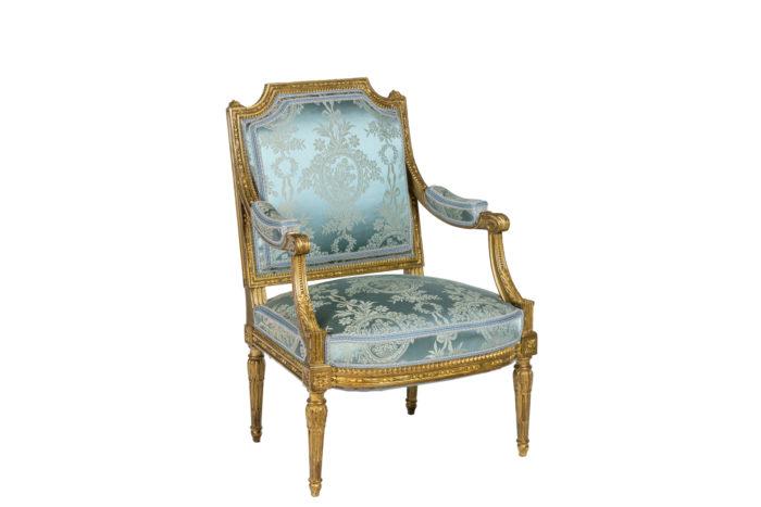 Paire de fauteuils d'apparat de style Louis XVI - assise