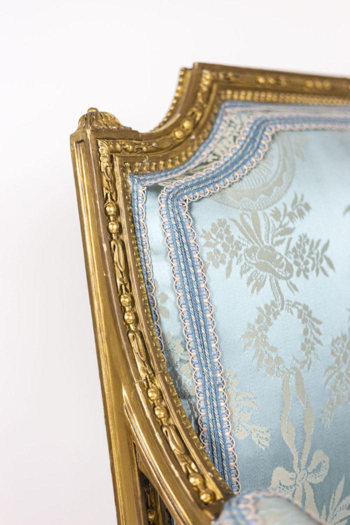 Paire de fauteuils d'apparat de style Louis XVI - frise