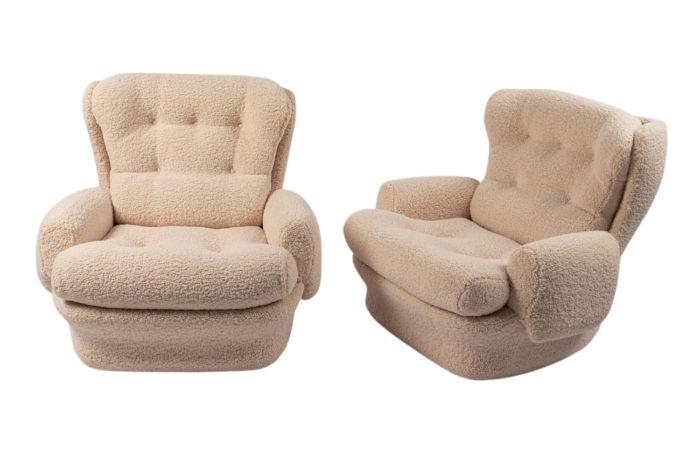 Paire de fauteuils - mise en scène